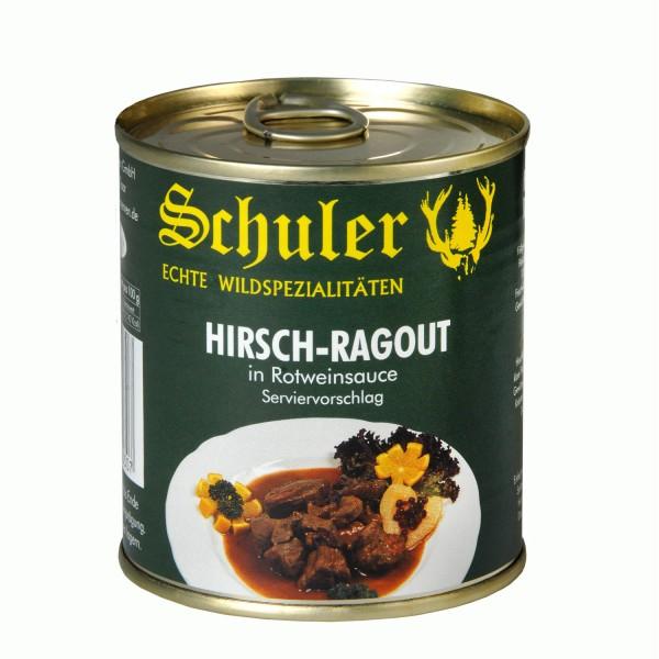 Hirsch-Ragout in Rotweinsauce