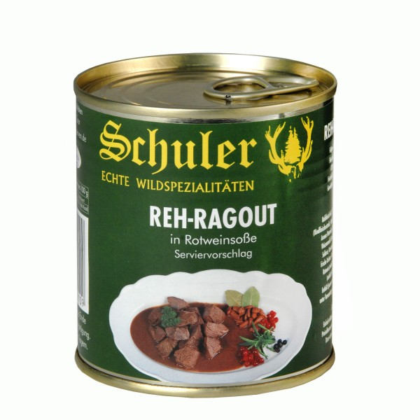 Reh-Ragout in Rotweinsauce