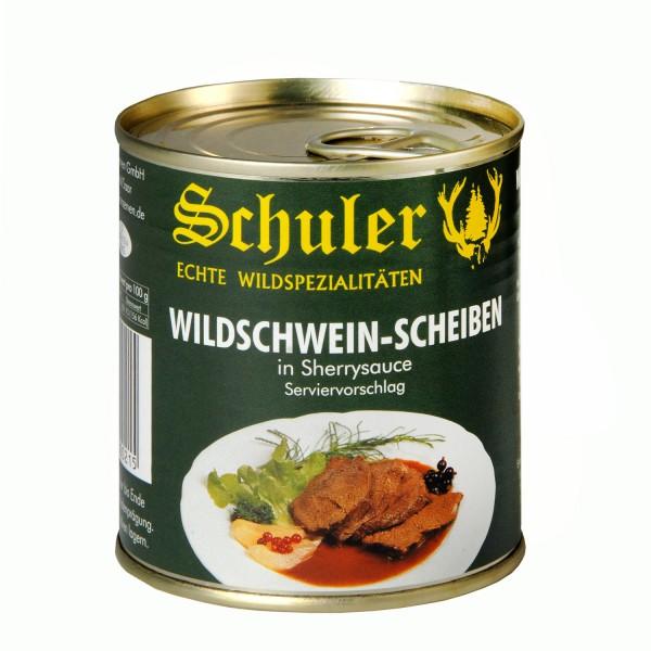 Wildschwein - Scheiben in Sherrysauce