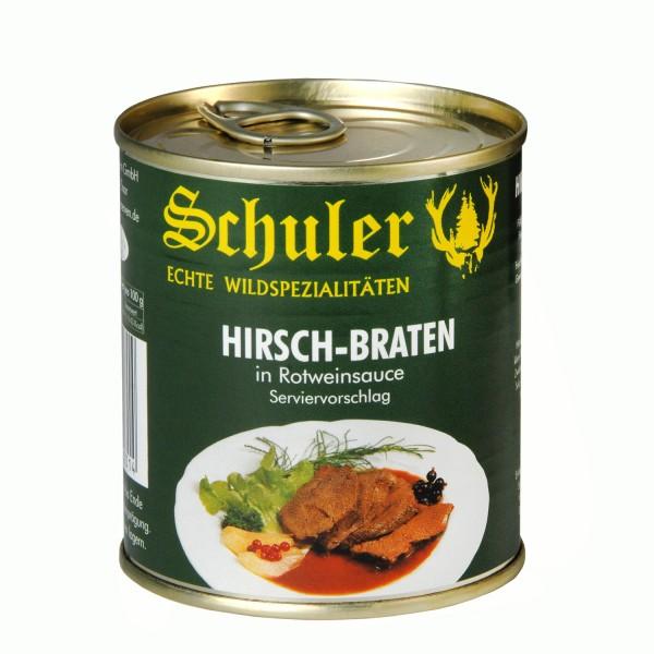 Hirschbraten in Rotwein