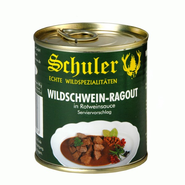 Wildschwein Ragout in Rotweinsauce